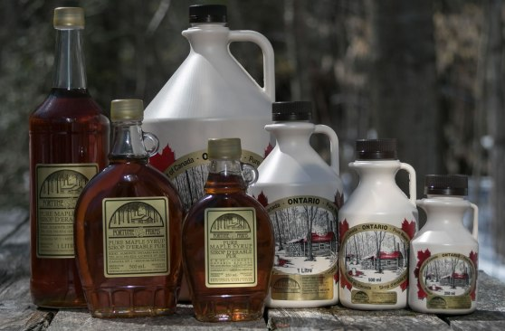 Almonte maple syrup for order from Fortune Farms