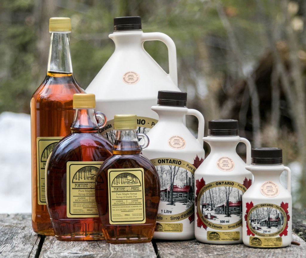 Click to shop online for Ottawa Valley maple syrup from Fortune Farms